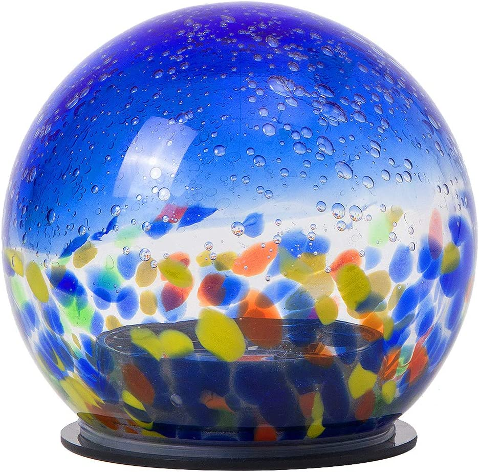 Mosaic Solar Light - LED Glass Outdoor Table Lantern Garden Lights Waterproof Globe Ball Lights for Garden,Patio,Yard, Party Decorations