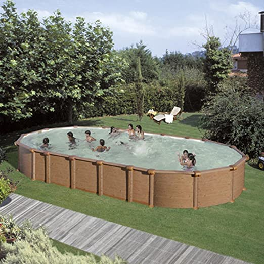 Piscina dream pool amazonia imitacion madera 9,15x4,70x1,32m ...