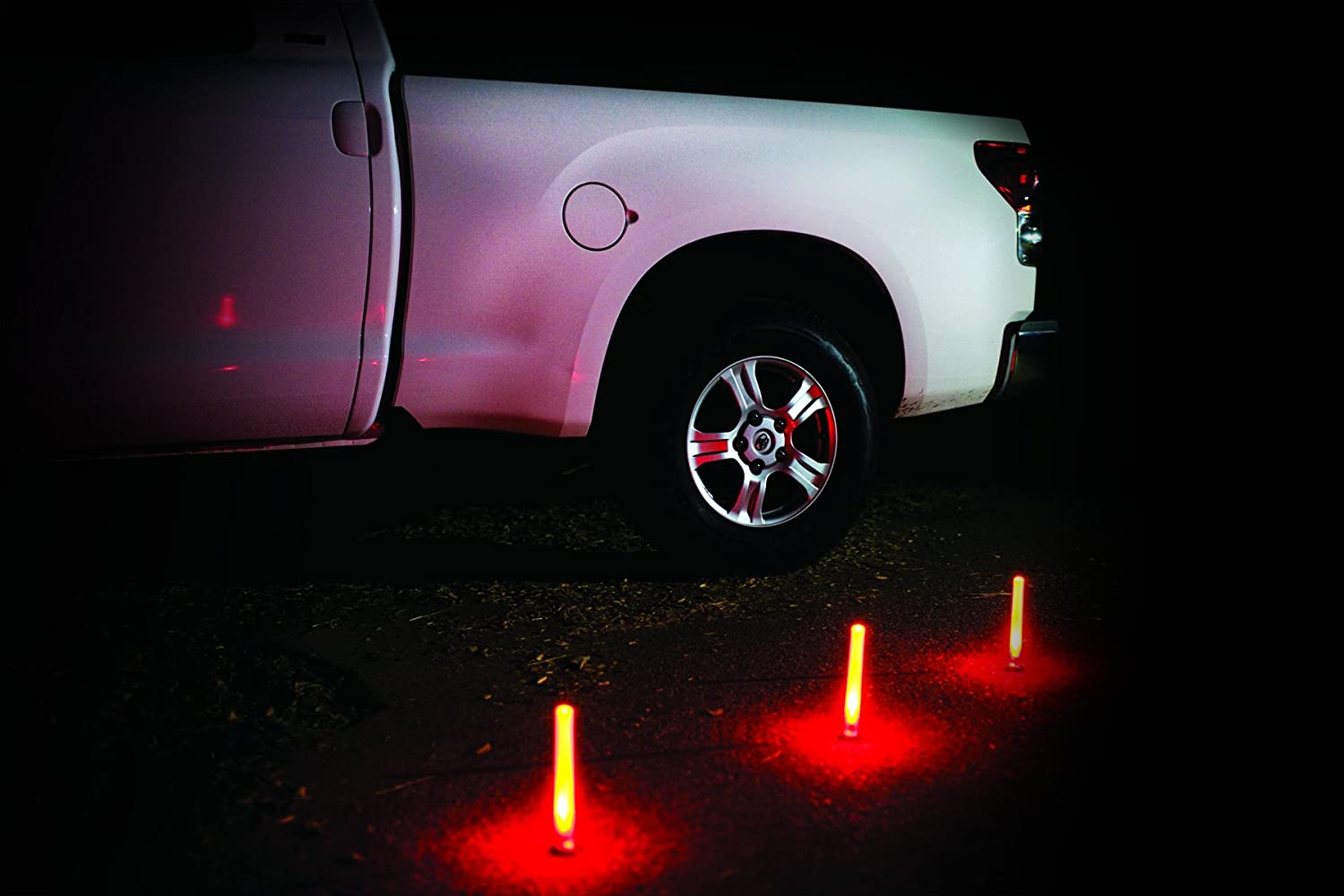 3-Pack Life Gear LG437 Eco-Friendly Glow Emergency Road Flares White//Red