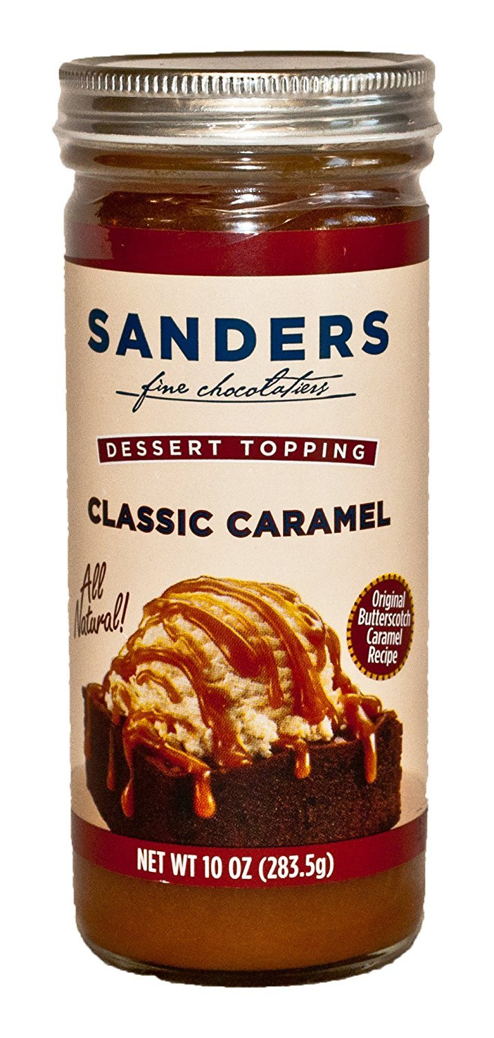 Sanders Assortment Milk Chocolate Hot Fudge, Classic Caramel and Extra Dark Chocolate Hot Fudge Dessert Topping 10 Oz (Pack of 3) by Sanders