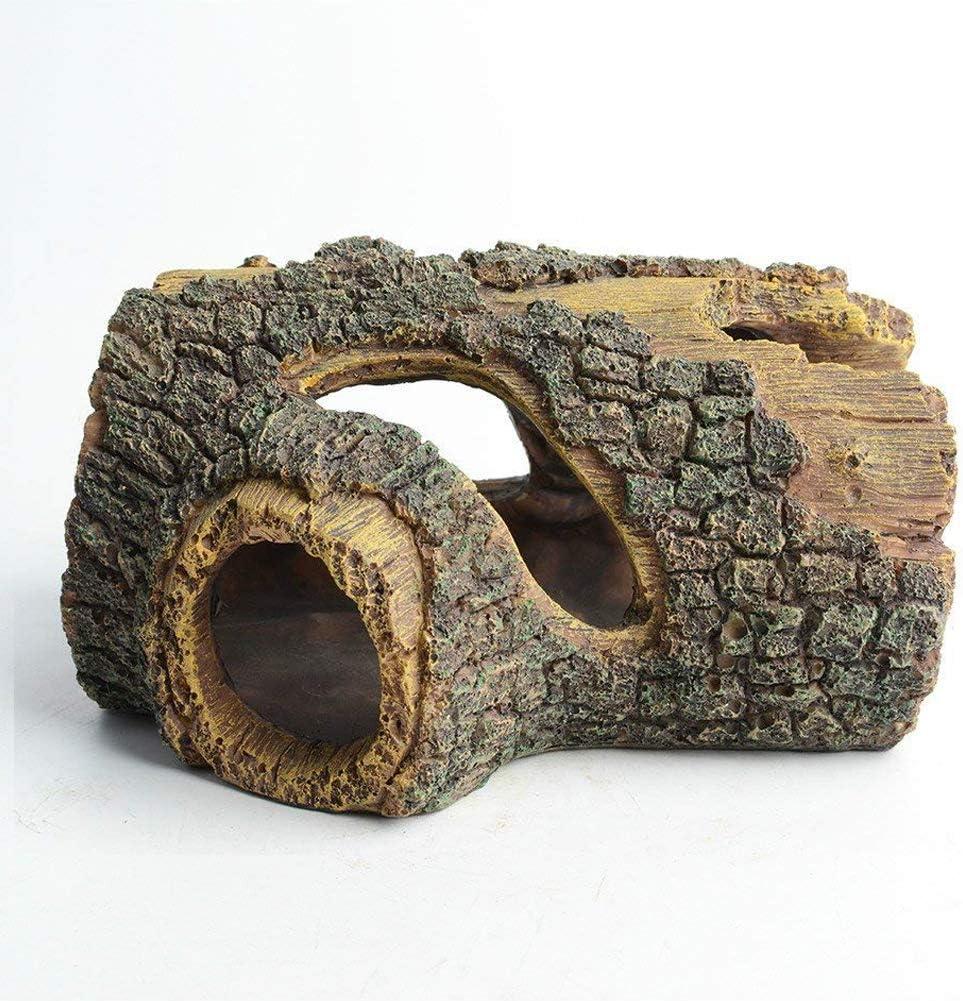Hygger Decoración Acuario, Cueva Adorno Acuario Resina Hueco