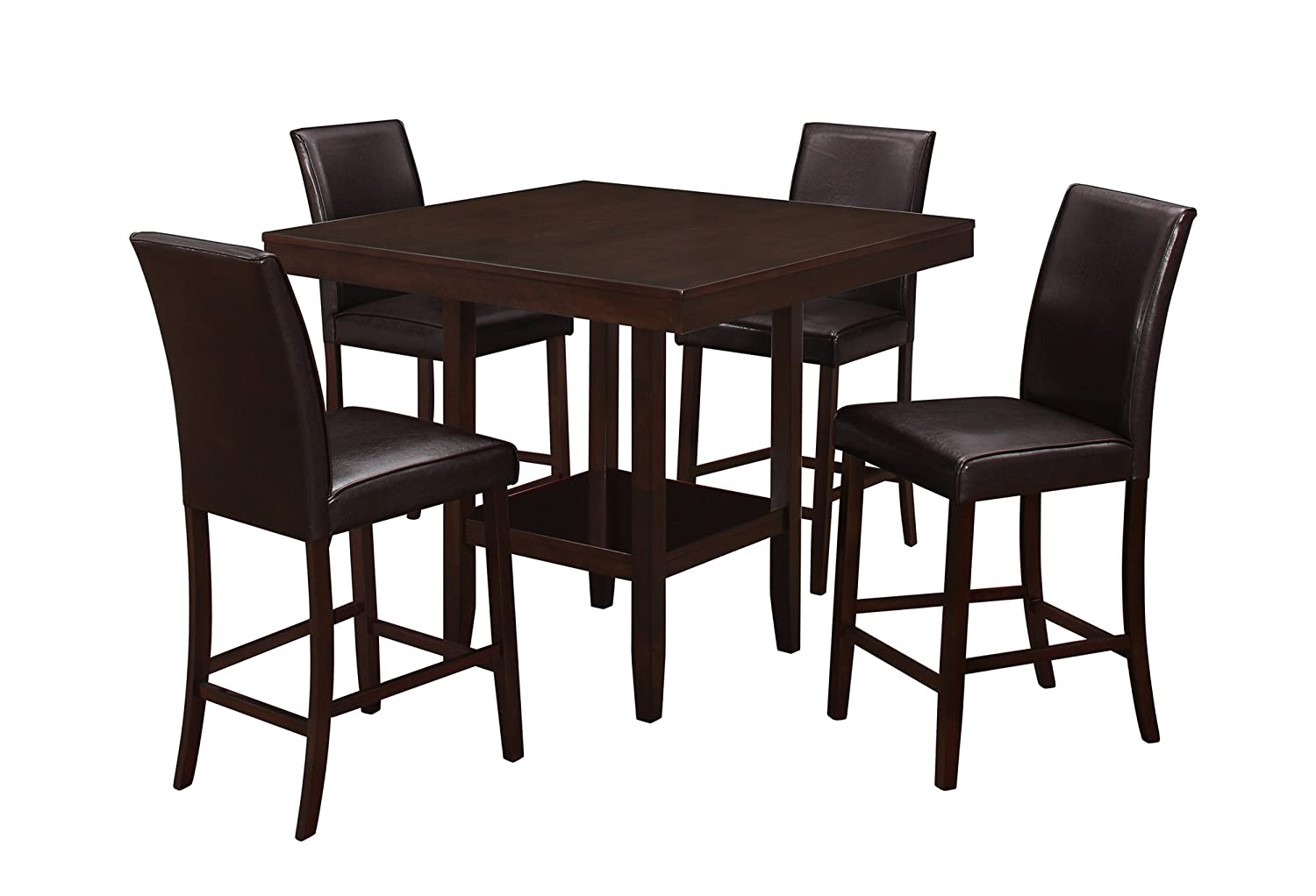 30 X 48 Cappuccino Monarch Specialties I 1178 Dining Table