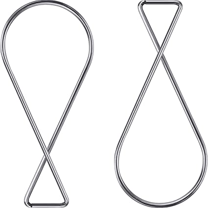 100 Sure Twist Drop Ceiling Hook Clear Clip Sign Holders