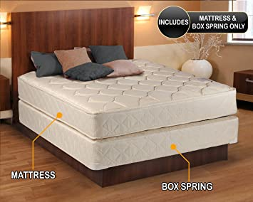 dreamy classic queen size mattress and box spring set - Queen Bed Frame And Box Spring
