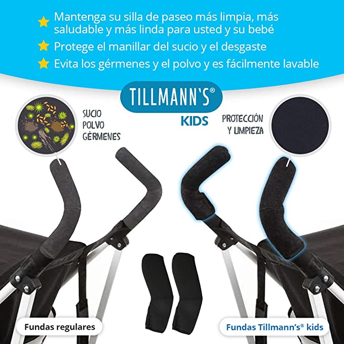 Funda Manillar Silla Paseo Maclaren En Neopreno | Funda Manillar Carrito Bebe | Manguitos Maclaren Compatibles: Amazon.es: Bebé