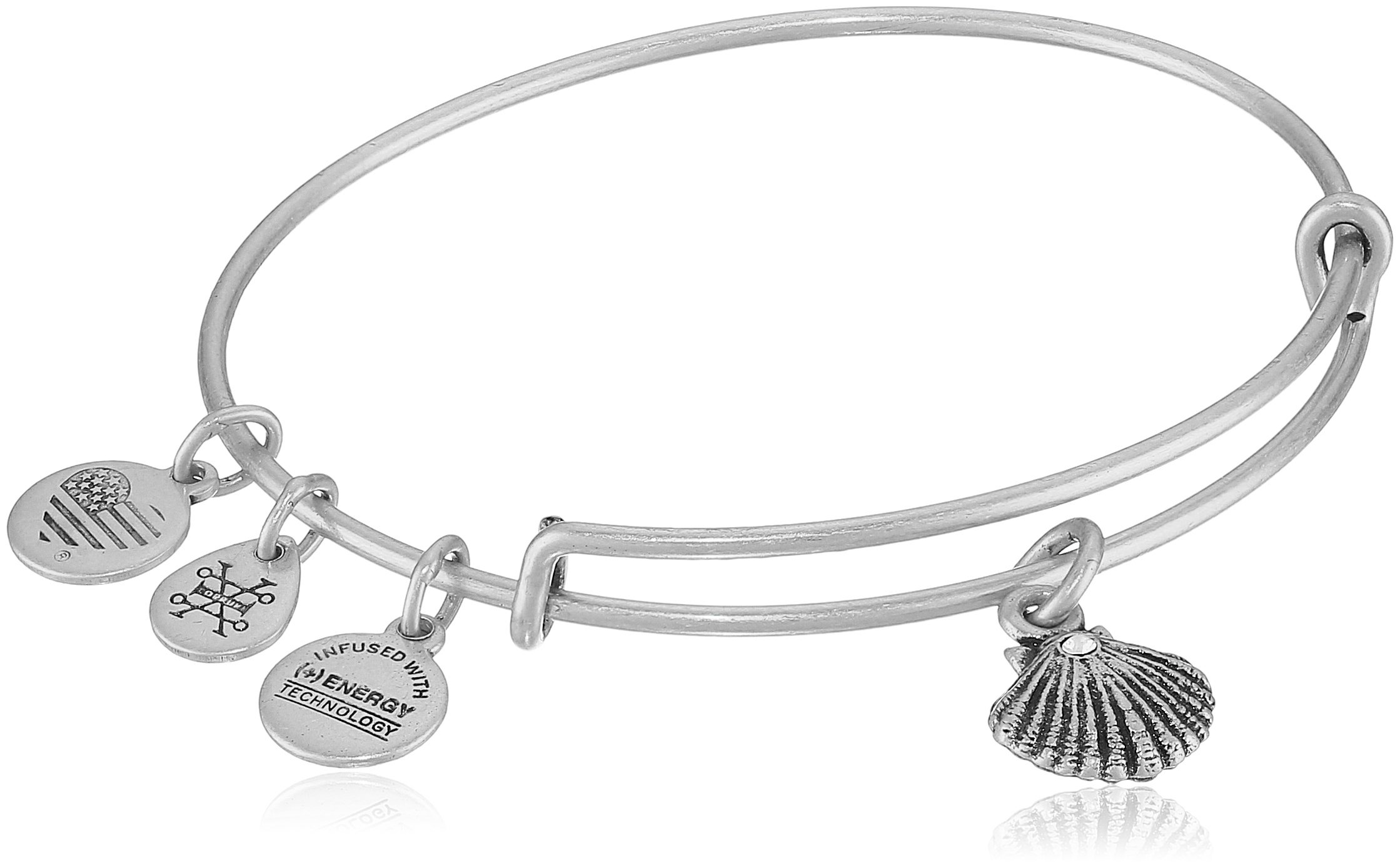 Alex and Ani Sea Shell II Rafaelian Silver Bangle Bracelet