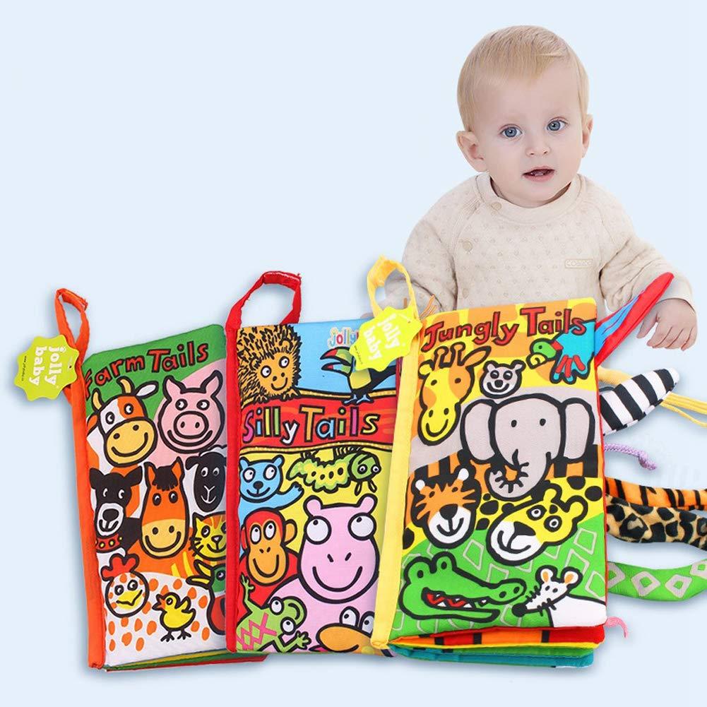 ouken Tear putrefacto Libro de paño de la Historieta DE 0-2 años temprano Antiguo Infantil Puzzle Book Juguetes del Desarrollo Educativo Interactivo para la ...