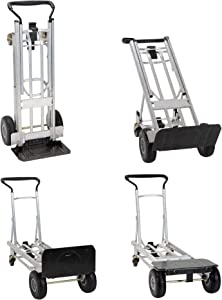 COSCO 4-in-1 Folding Series Hand Truck/Assisted Hand Truck/Cart/Platform Cart with flat-free wheels
