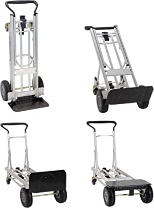 COSCO 4-in-1 Folding Series Hand Truck with Flat-Free Wheels
