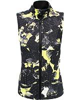 Calvin Klein Women's Printed Green Grey Multi Performance Vest (M)