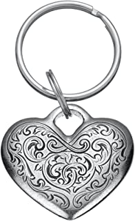 product image for DANFORTH - Florentine Heart Keyring - 1 1/2 Inches - Pewter - Key Fob - Handcrafted - Made in USA