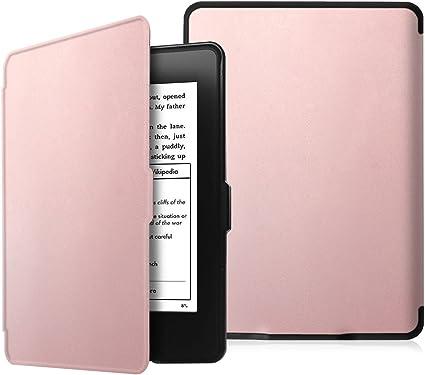 Fintie SlimShell Funda para Kindle Paperwhite - La Más Delgada y Ligera Carcasa de Cuero Sintético con Función de Auto-Reposo/Activación (No se Adapta a 10.ª generación 2018), Oro Rosa: Amazon.es