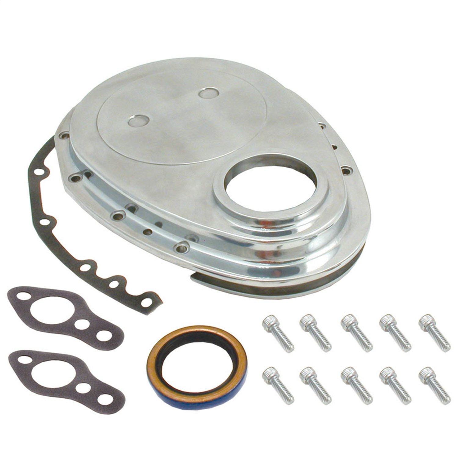 Spectre Performance 4935 Aluminum Timing Cover Kit for Small Block Chevy by Spectre Performance