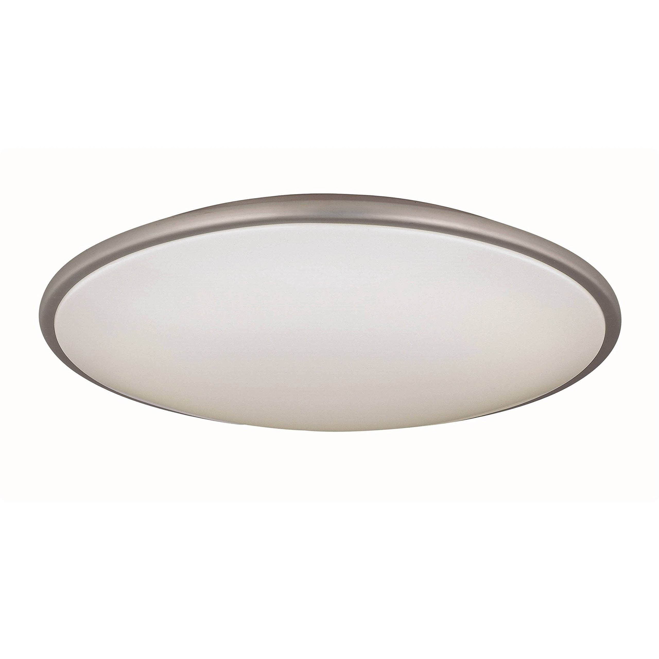 Lite Source LS-5412SS/WHT Pegeen 21-Inch Ceiling Flush Mount Lite, Satin Steel with White Acrylic