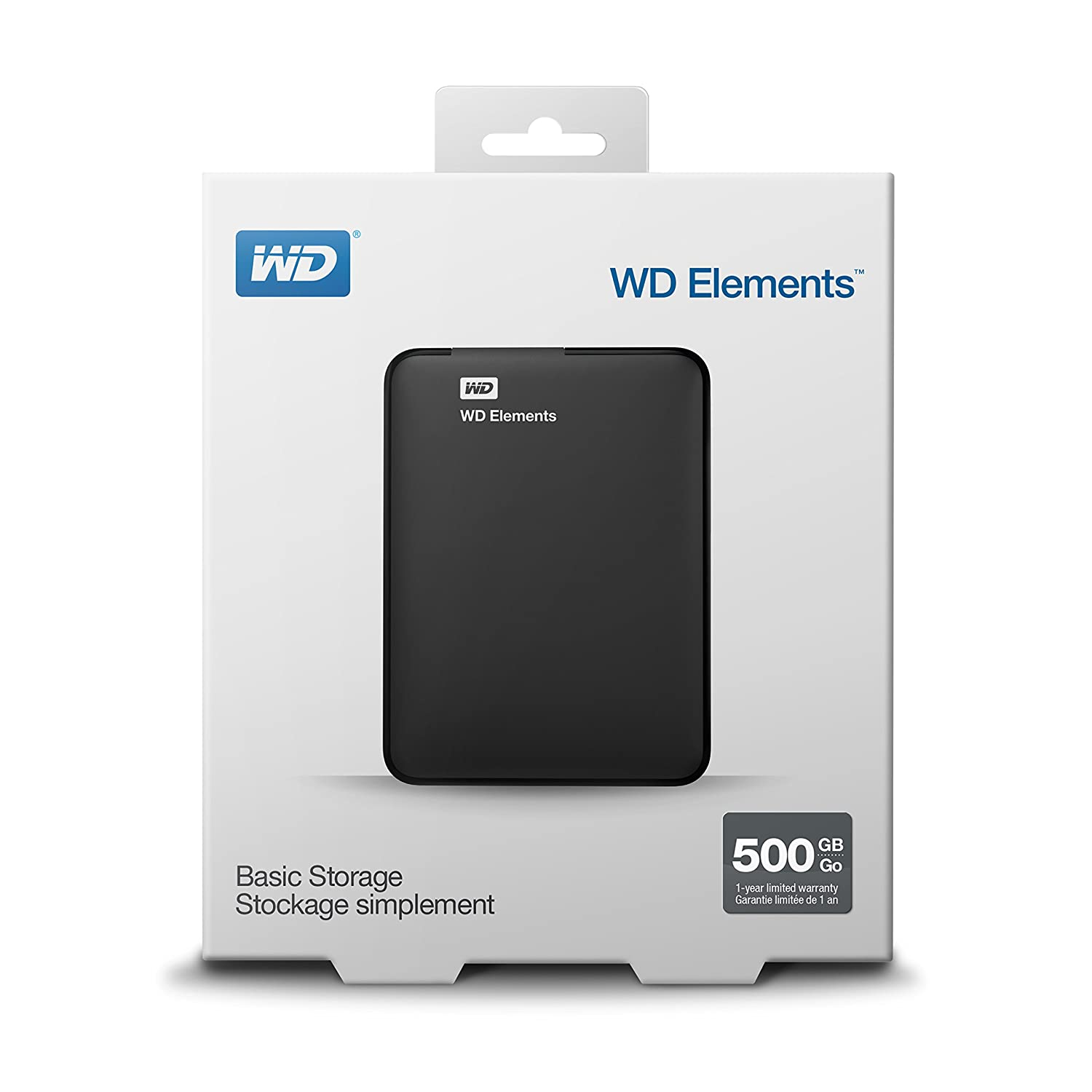 a3f1d6d48 Amazon.com  WD 500GB Elements Portable External Hard Drive - USB 3.0 -  WDBUZG5000ABK-NESN  Computers   Accessories