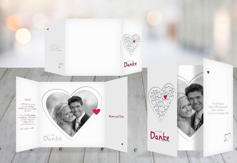 Kartenparadies Danksagung für Hochzeitsgeschenke Hochzeit Dankeskarte Herzform, hochwertige Danksagungskarte Hochzeitsglückwünsche inklusive Umschläge   20 Karten - (Format  145x145 mm) Farbe  RosaLeuchtend B01MYAMLUJ | Guter weltweite