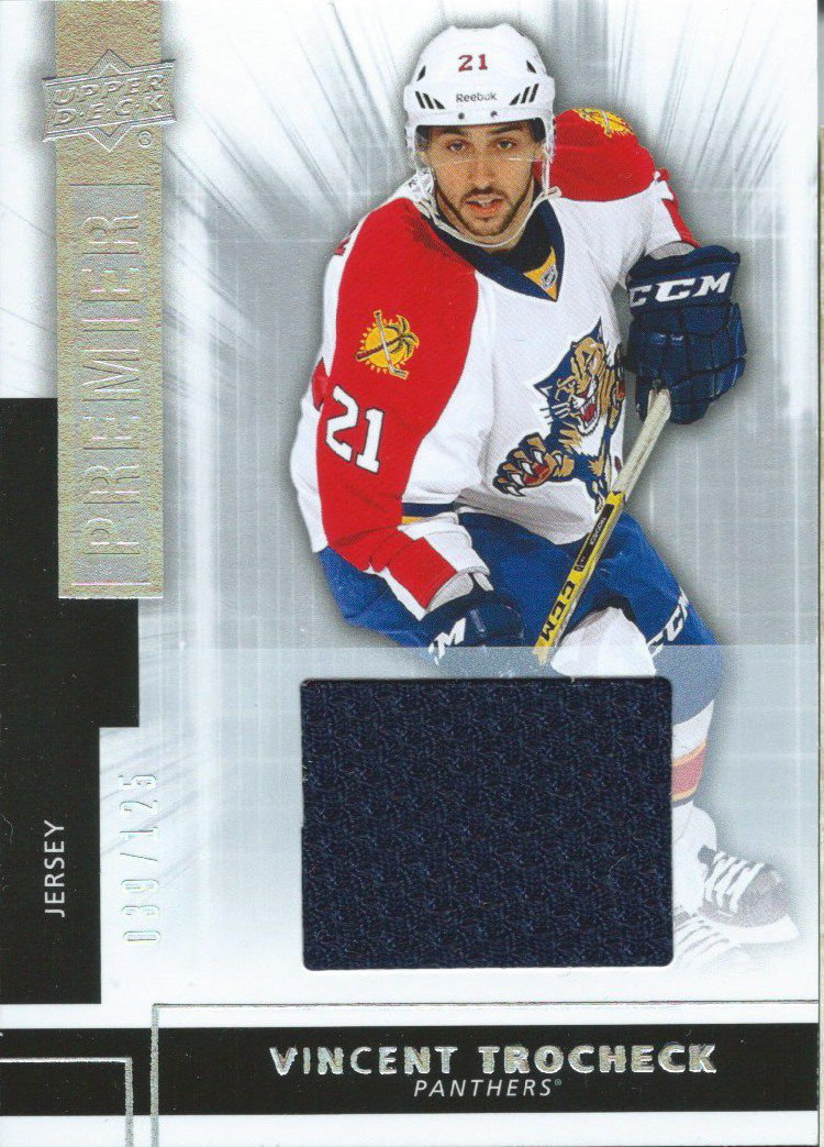 ... Reebok Florida Panthers 21 Vincent Trocheck Authentic Away NHL Jersey -  Womens 2014-15 Upper Deck Premier Rookies VINCENT TROCHECK 39125 Jersey  01811 at ... 8017a0db9
