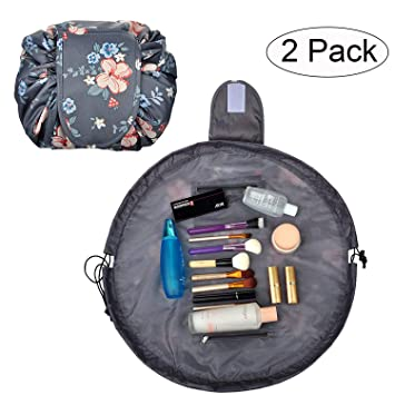 b4b19d9f1b7a TANTO Lazy Makeup Bag Drawstring Cosmetic Bag Portable Quick Pack Travel  Makeup Pouch Case...