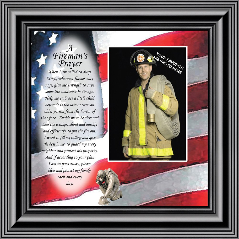 Fireman's Prayer Picture Frame