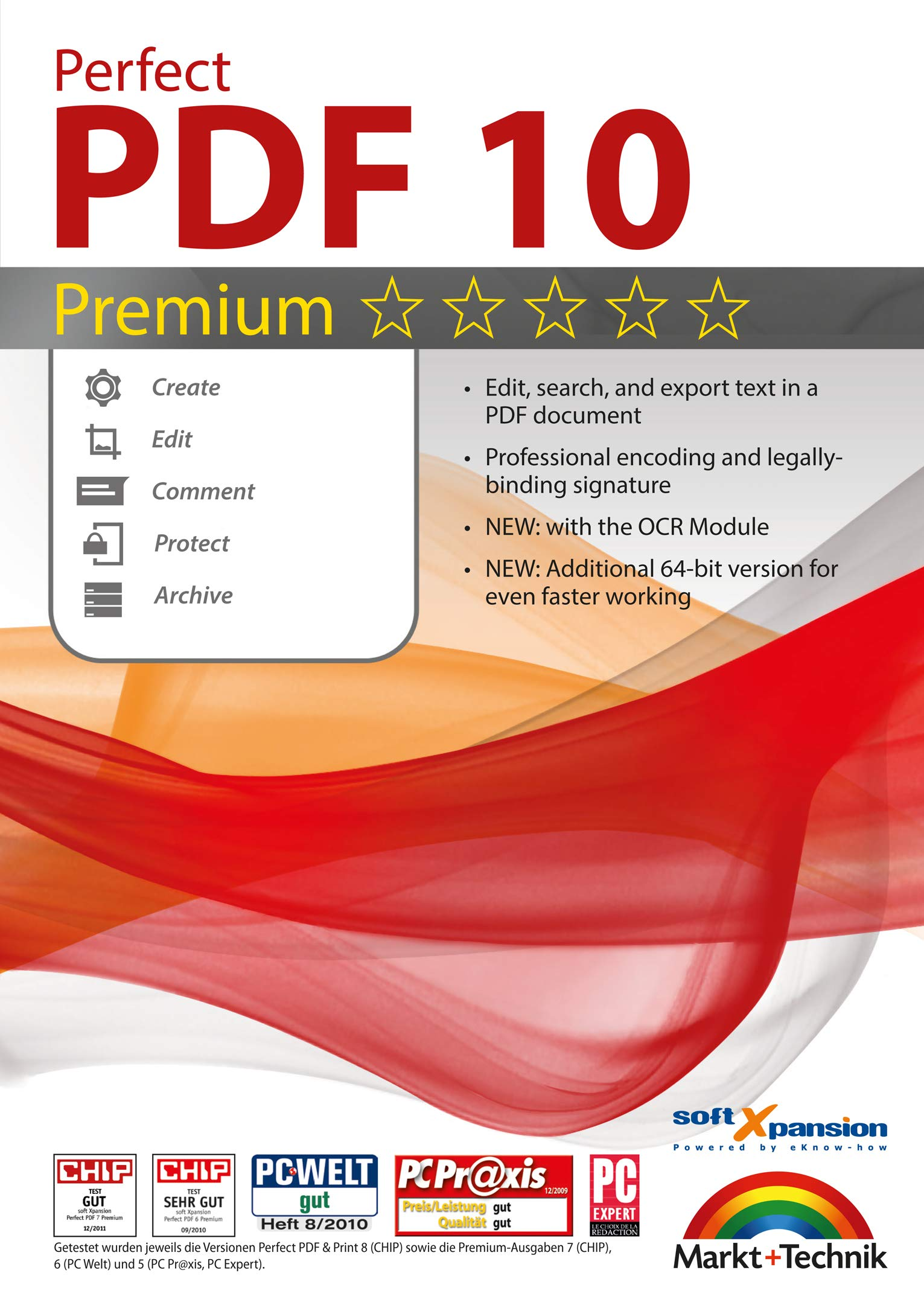 Perfect PDF 10 PREMIUM with the OCR Module Create, Edit, Convert, Protect, Add Comments to, Insert Digital Signatures in PDFs | 100% Compatible with Adobe Acrobat by Markt+Technik