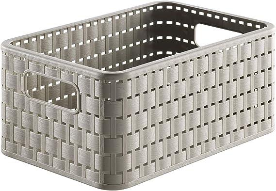 Rotho Country, Caja de almacenamiento de 6l en aspecto de ratán, Plástico PP sin BPA, capuchino, A5, 6l 28.0 x 18.5 x 12.6 cm: Amazon.es: Hogar