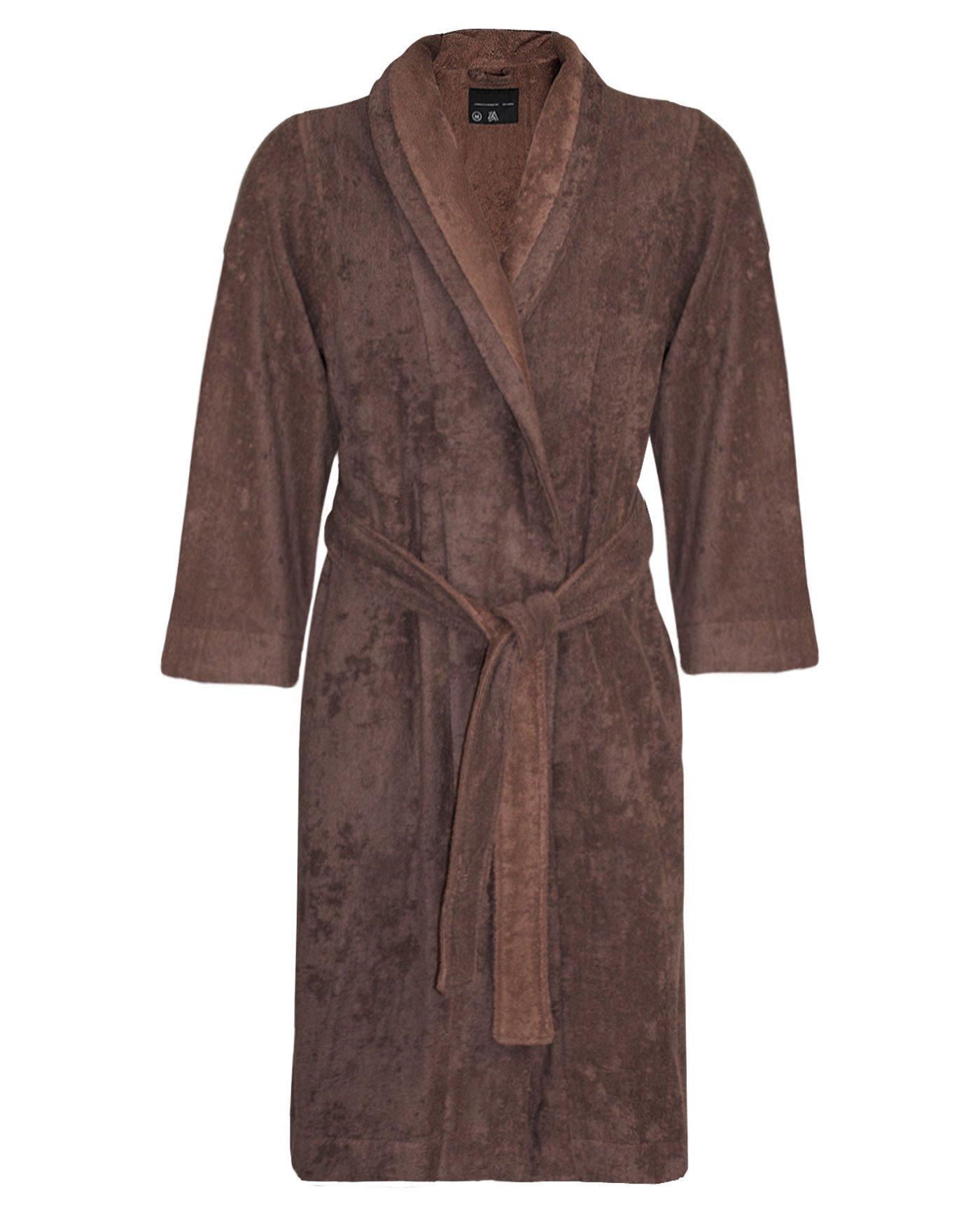 Armani International Bathrobe Slippers Cotton-Modal Medium Chocolate-Golden Brown
