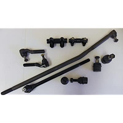 10 pcs. aftermarket kit 2 Tie Rod Ends, 2 Drag Center Links, 2 Upper 2 Lower Ball Joints 2 Adjusting Sleeves, F250 4WD w/4600lb Axle