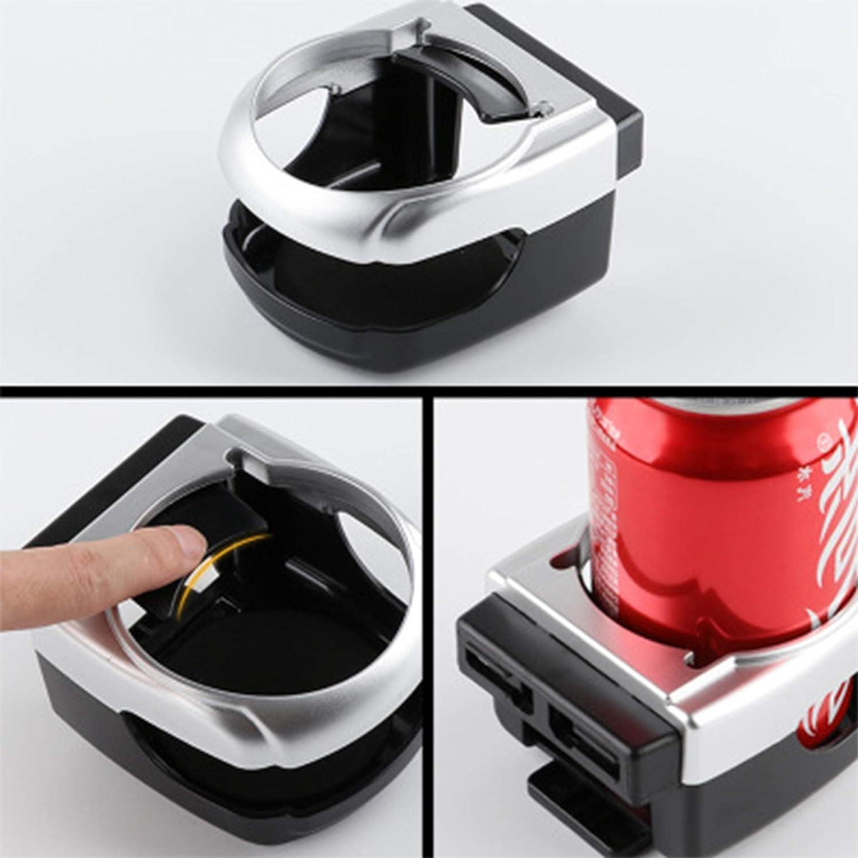 2 Pezzi Porta Bevande Contenitore Supporto,Portabicchieri Auto Auto Phone Holder condizionatore d Aria Vent Mount Inserto Morbido Water Cup Coffee Cup con Regolare per Smartphone