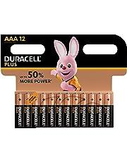 Duracell Plus AAA Batterie Ministilo Alcaline, Confezione da 12 Pacco del Produttore, 1.5 V LR03 MN2400