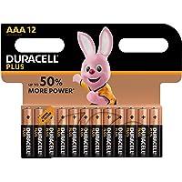 Duracell Plus AAA, Batterie Ministilo Alcaline, Confezione da 12 Pacco del Produttore, 1.5 volt LR03 MN2400 (il Design della Confezione Potrebbe Variare)