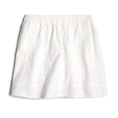 J Crew Factory - Women's - Crisp White Eyelet Cotton Pull-on Skirt ...