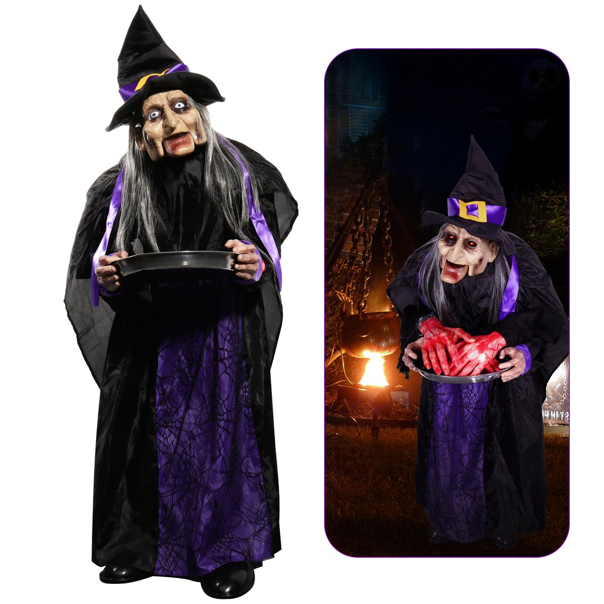 Halloween Animated Witch Prop.