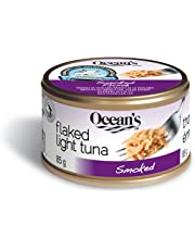 Ocean's Smoked Flaked Light Tuna - 24 Count - Low Fat and Low Calorie – High in Iron and Protein – Ready to Eat