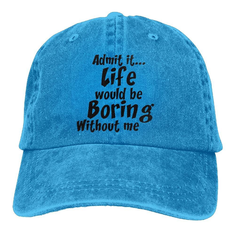 Admit It Life Needs Me Trend Printing Cowboy Hat Fashion Baseball Cap For Men and Women Black