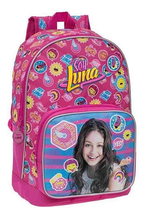 Disney 33923A Yo Soy Luna Mochila Escolar, 16.93 litros, Color Rosa