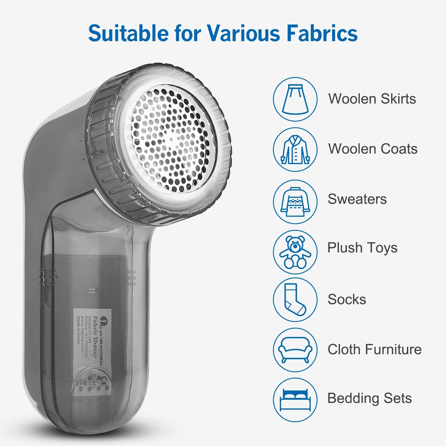 and Bobbles BEAUTURAL Portable Fabric Shaver and Lint Remover with 2-Speeds Adjustable Shave Height Quickly and Effectively Remove Fluff Lint