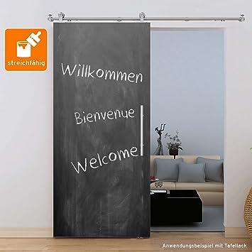 Zimmertür holz  Holzschiebetür Schiebetür Zimmertür Holz 900x2065 mm MDF grundiert ...