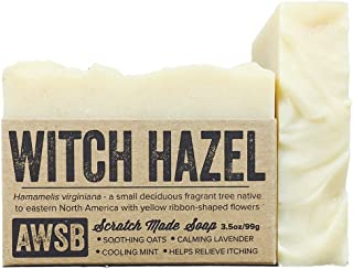 product image for Witch Hazel Bar Soap with Lavender & Peppermint, Vegan, Soothing, All Natural with Organic Ingredients, Handmade by A Wild Soap Bar