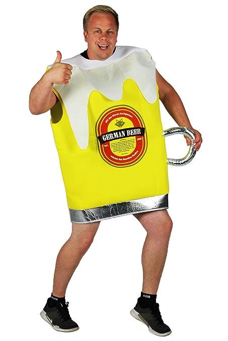 Foxxeo gelbes Bierglas Kostüm für Männer Junggesellenabschied Bier Glas Pils Größe L