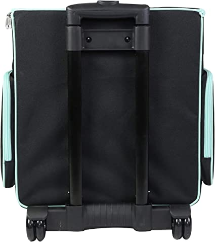 Black Quilted Organizer Case for IRIS Boxes Supplies Everything Mary Collapsible Rolling Craft Bag Tote with Wheels for Scrapbook /& Art Storage and Accessories for Teachers /& Medical