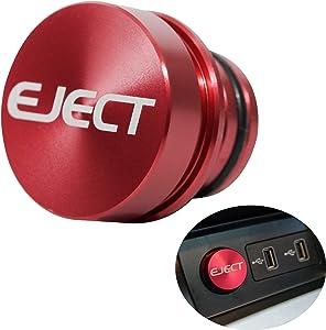 Niteguy Billet Aluminum Cigarette Lighter Plug - Anodized Aluminum, 12-Volt Replacement Accessory, Fits Most Vehicles,Delete Universal Fitment Fits Most (Eject)
