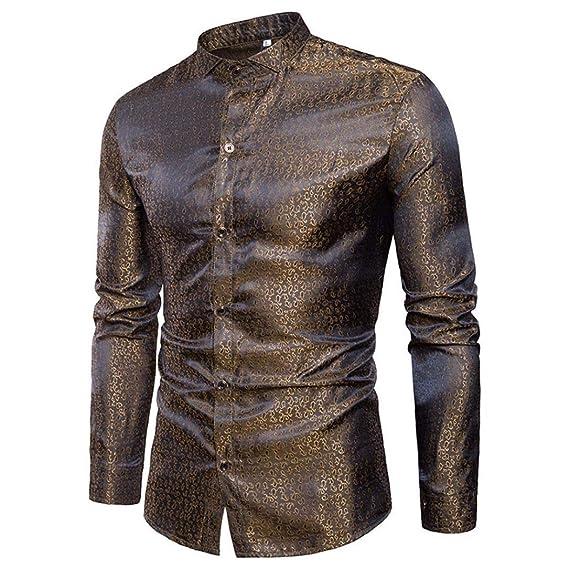 Camisas Moda Manga Larga Btruely Herren Men Fashion Slim Fit Casual Long Sleeves Shirts 2028 Blusa de Manga Larga de Remiendo Ocasional Hombres de la ...