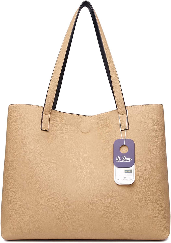 Reversible Tote Bag or Purse Organizer Purse or Tote Bag Insert