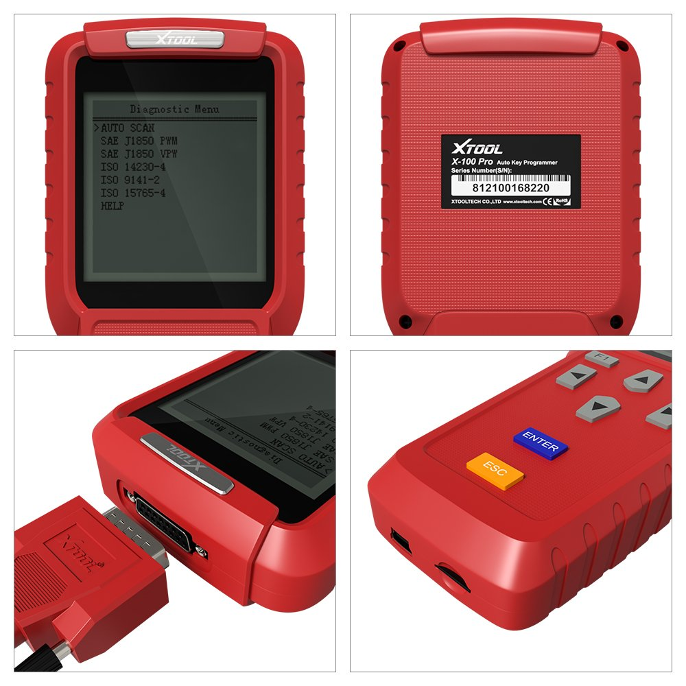 XTOOL X100 Pro Auto Key Programmer Immobilizer OBDII Diagnostic Tool Code  Scanner with EEPROM