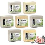 Pifito Melt and Pour Soap Base Sampler (7 lbs) │ Assortment of 7 Bases (1lb ea) │ Hemp Seed Oil, Clear, Aloe Vera, Goats Milk