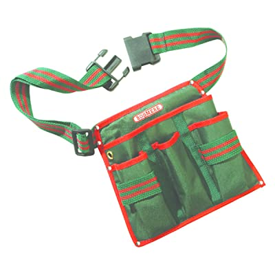 Bosmere N543 4-Pocket Pruner Tool Belt, Fits Waist from 32-Inch to 44-Inch, Green with Red Piping : Gardening Tool Holders : Garden & Outdoor