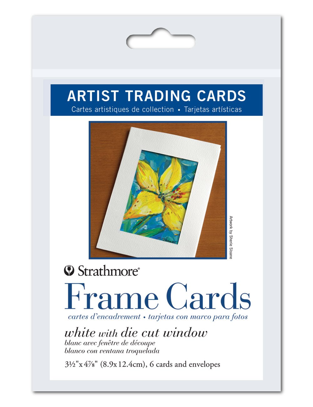 Strathmore Artist Trading Card Frames, White Die-Cut Window, 3.5 X 4.875 inches, Package of 6 (105-912) STRATHMORE PAPER 4336880422