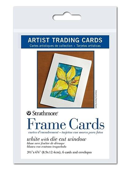 Amazon.com: Strathmore Artist Trading Card Frames, White Die-Cut ...