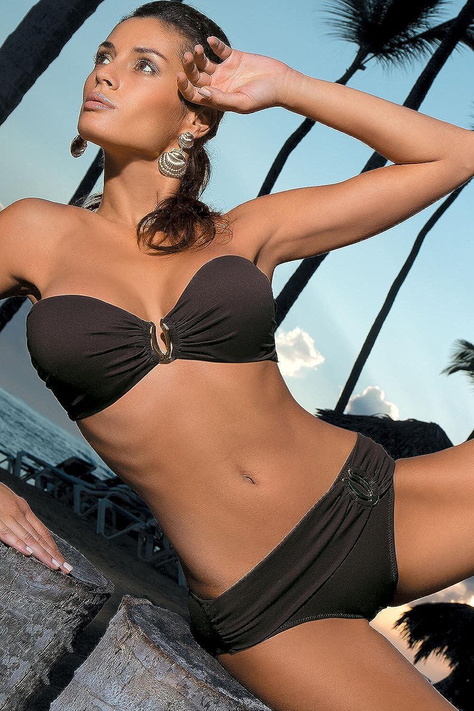 Marko Salma M-254 splendido Bikini di Due Pezzi con Inserti Dorati Fabbricato in UE