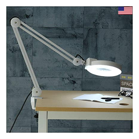 Incredible Swing Arm Magnifying Desk Clamp Work Bench Light Lamp Nail Ibusinesslaw Wood Chair Design Ideas Ibusinesslaworg